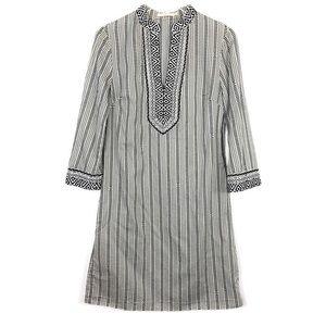 Tory Burch Cotton Dress Caftan Logo Boho Size 6